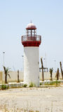 Lighthouse at the port of La Goulette, Tunisia Royalty Free Stock Image