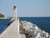 Lighthouse in the port of Nice Stock Photos