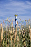 Lighthouse. In the port of Oostende on the Belgian coast royalty free stock image