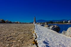 Lighthouse. Port of Puerto Banus. Royalty Free Stock Images