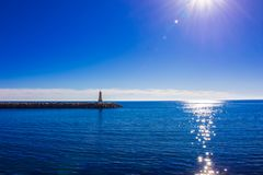 Lighthouse. Port of Puerto Banus. Royalty Free Stock Photography