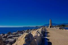Lighthouse. Port of Puerto Banus. Stock Photo