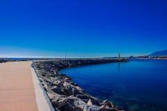 Lighthouse. Port of Puerto Banus. Stock Photos