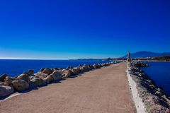 Lighthouse. Port of Puerto Banus. Stock Images