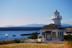 Lighthouse in Port Townsend. A Lighthouse in Port Townsend, on the Strait of Juan De Fuca. Washington, USA royalty free stock photography
