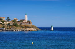 Lighthouse Port-Vendres,Cote Vermeille Royalty Free Stock Photos