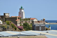 Lighthouse of Port-Vendres in France Stock Photography