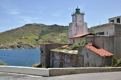 Lighthouse of Port-Vendres in France Royalty Free Stock Photography
