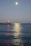 Lighthouse in the port of Yalta Stock Photos
