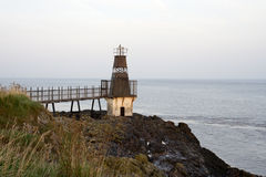 Lighthouse at Portishead. Warning beacon to shipping in the Bristol Channel royalty free stock image