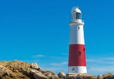 Lighthouse. Portland Bill Lighthouse on the south coast of England Royalty Free Stock Photography