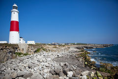 Portland Bill lighthouse, Dorset, UK, Jurassic coa Royalty Free Stock Photo