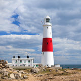Portland Bill lighthouse, Dorset, UK, Jurassic coast Royalty Free Stock Images
