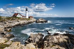 Lighthouse in Portland, Maine Stock Photography