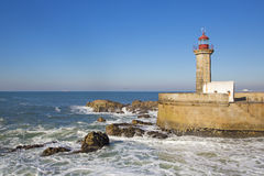 Lighthouse in Porto Stock Image