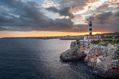 Lighthouse Porto Colom Royalty Free Stock Photography