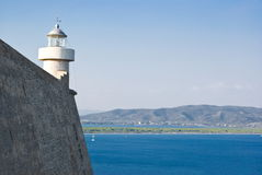 Lighthouse of Porto Ercole, Tuscany in Italy Stock Photos