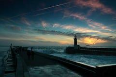 Lighthouse, Porto Portugal Stock Image