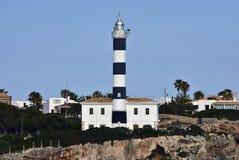 Lighthouse in Portocolom Stock Image