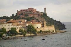 Lighthouse of Portoferraio in Portoferraio, Province of Livorno, on the island of Elba in the Tuscan Archipelago of Italy, Europe, Stock Images