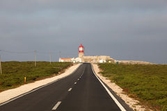 Lighthouse in Portugal Stock Photography