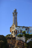 Lighthouse positioned on Alcatraz Island Royalty Free Stock Image