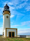 Lighthouse powered with solar energy, Westray, Orkney islands, Scotland royalty free stock photo