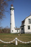 Lighthouse - Presque Isle, Michigan Stock Photography