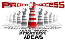 Lighthouse profit and success Stock Photos
