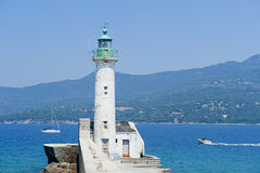 Lighthouse of Propriano, Corsica Royalty Free Stock Images
