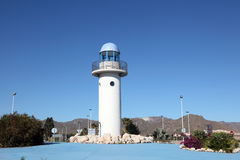 Lighthouse in Puerto de Mazarron, Spain Royalty Free Stock Photography