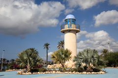 Lighthouse in Puerto de Mazarron, Spain Royalty Free Stock Image