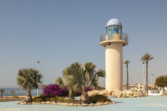 Lighthouse in Puerto de Mazarron, Spain Royalty Free Stock Images