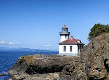 Lighthouse on Puget Sound of Washington State royalty free stock photo