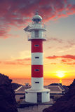 Lighthouse Punta de Teno Στοκ εικόνα με δικαίωμα ελεύθερης χρήσης
