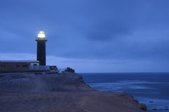 Lighthouse Punta Jandia at night, Fuerteventura Royalty Free Stock Image