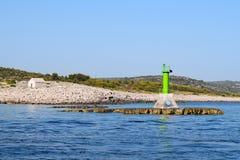 Lighthouse `Punta planka` Croatia stock image