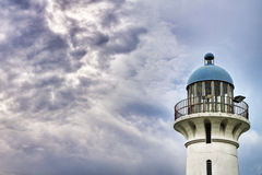 Lighthouse at Raffles Marina, Singapore. This is an image of Lighthouse at Raffles Marina, Singapore. It has an AdobeRGB(1998) color profile Stock Image