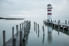 Lighthouse in the rain Royalty Free Stock Photos
