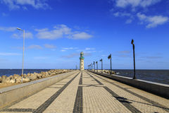 Lighthouse at Ras El Bar ,Damietta,Egypt Royalty Free Stock Photography
