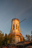 The lighthouse of  Rauma at sunset. Stock Image