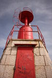 Lighthouse. The red lighthouse on the dam of Sottomarina Royalty Free Stock Photo