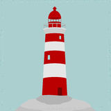 Lighthouse. Red and white. vector format Stock Image
