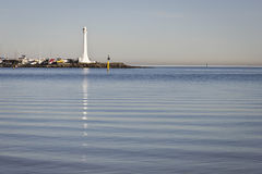 Lighthouse reflection Stock Photo
