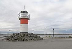 Lighthouse on Reposaari. Finland Stock Images
