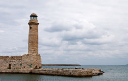 Lighthouse, Rethymno  Crete Royalty Free Stock Photo