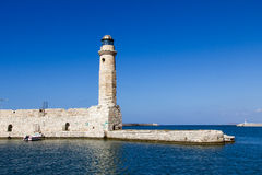 Lighthouse of Rethymno Stock Image