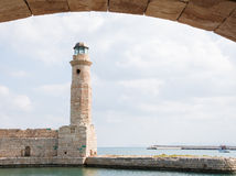 Lighthouse of Rethymno, Crete, Greece Royalty Free Stock Photos