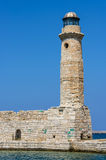 Lighthouse in Rethymno, Greece Royalty Free Stock Photo