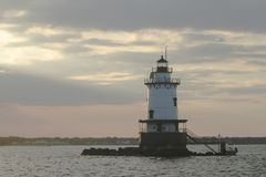 Lighthouse in Rhode Island Stock Photography